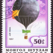 Mongolian Balloon Air Mail Postage Stamp Historic Flight Sweden — Stock Photo