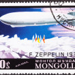 Graf Zeppelin Flight North Pole, Mongolian Air Mail Postage Stam — Stock Photo