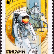 Postage Stamp Apollo 11 Moon Walk Space Suit - Stock Photo