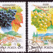 Canceled Hungarian Postage Stamp Celibrating Wine Making Regions — Stock fotografie