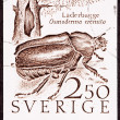 Sweden Swedish Postage Stamp Hermit Beetle Osmoderma Eremita Lä - Stock Photo