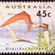 Canceled Australia Australian Postage Stamp Bird-Like Ornithoche - Stock Photo