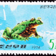 Canceled North KorePostage Stamp Oriental Black Firebelly Toa — Stock Photo #7897143