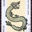 Canceled Cambodian Postage Chinese Year of the Dragon 2000 Serie - Stock Photo