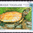Stock Photo: TogPostage Stamp Vietnamese Leaf Black-breasted Hill Turtle G
