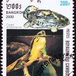 Canceled Cambodian Postage Stamp Amboina Box Turtle Cuora Amboin - Stock Photo