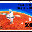 Upper Volta Postage Stamp Viking Space Explorer Ship Lander Mars — Stock Photo