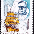 Canceled Hungarian Postage Stamp Robert Scott Antarctic Explorer — Stock Photo