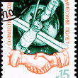 Soviet Postage Stamp Russian Afghanistan Joint Space Mission Mir — Stock Photo #7897526