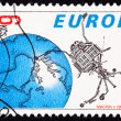 Postage Stamp Czechoslovakian Built Magion 2 Earth Magnetosphere - Stock Photo