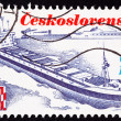 Stock Photo: Canceled CzechoslovakiPostage Stamp Czech Container Ship Trin