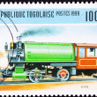 Stock Photo: Canceled Togo Train Postage Stamp Vintage Railroad Steam Engine