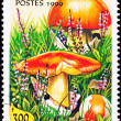 Canceled Togo Postage Stamp Caesar&#039;s Mushroom, Amanita Caesarea - Stock Photo