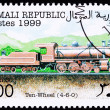 Somali Train Postage Stamp Old Railroad Steam Engine Locomotive - Stock Photo