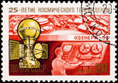 苏联俄罗斯邮票 venera 9 空间探索行星金星 — 图库照片