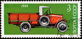 Canceled Soviet Russia Postage Stamp Side View Antique Truck — Stock Photo