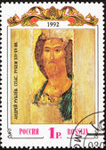 Canceled Russia Post Stamp Andrei Rublev Painting Christ Savior — Stock Photo