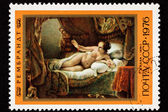 Soviet Russia Postage Stamp Rembrandt Painting, Danaë, Woman Be — Stock Photo