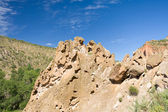 Ash Deposits Valles Caldera Bandelier National Monument New Mexi — Stock Photo