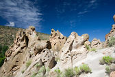 Ash Deposits Valles Caldera Bandelier Monument USA — Stock Photo