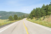 Road Curving Away into the Distance Valles Caldera, New Mexico — Stock Photo