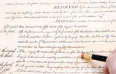 Editing Erasing First Amendment US Constitution — Stock Photo
