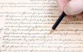 Editing First Amendment Pencil US Constitution — Stock Photo