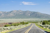Road into Mountains Rio Grande Gorge Taos NM — Stock Photo