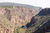 Rio Grande River Gorge, North Central New Mexico — Stock Photo