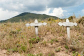 Old Crosses Desert Outside Taos New Mexico USA — Stock Photo