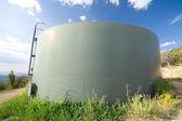 Water Tank Hillside Santa Fe New Mexico USA — Stock Photo