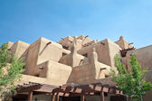 Adobe Hotel Built Like a Pueblo Santa Fe New Mexico — Stock Photo