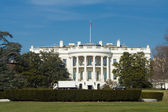 White House South Lawn Truck Blue Sky Washington — Stock Photo