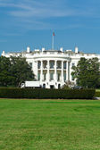 White House South Lawn Blue Sky Washington DC — Stock Photo