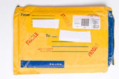 US Postal Service Mailer Envelope Package FRAGILE — Stock Photo
