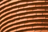 Full Frame Curved Bricks in Row Building Abstract — Stock Photo