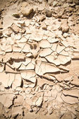 Full Frame Vignette Cracked Dried Mud Abiquiu, New Mexico — Stock Photo