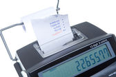 Isolated Adding Machine and Tape with Total — Stock Photo