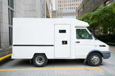 Armored Car Van Parked Driveway, Shanghai, China — Stock Photo