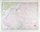 Detailed Antique Street Map Brooklyn, New York, NY — Stock Photo