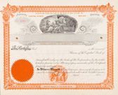 U.S. Stock Certificate Mining Company 1898 Miners — Stock Photo