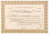 Stock Certificate Lovelock, Nevada 1918 100 Shares — Stock Photo