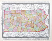 Antique Map Pennsylvania PA United States USA — Stock Photo