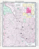 Antique Color Street Map Baltimore, Maryland, USA — Stock Photo