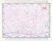Color Street City Map of Detroit, Michigan, MI USA — Stock Photo