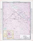 Antique Street City Map Minneapolis, Minnesota MN — Stock Photo