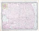 Detailed Street City Map, St. Louis, Missouri, USA — Stock Photo