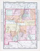 Mapa antiguo color de la vendimia de nuevo méxico, estados unidos — Foto de Stock