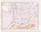 Antique Color Street City Map Cincinnati Ohio, USA — Stock Photo