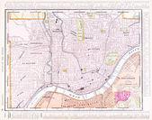 Antique Color Street City Map Cincinnati Ohio, USA — Stock Photo